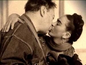 Frida y Diego, en la casa de San Ángel, en una fotografía de  Nickolas Muray