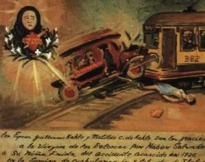 """""""Retablo"""" , Exvoto Frida Kahlo, retocado  en 1940"""