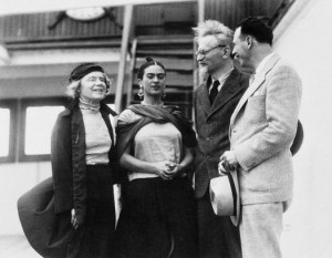 Frida Kahlo con Trotski
