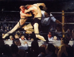 IMÁGEN  .... Combate de boxeo de Aharkey-George Wesley Bellows