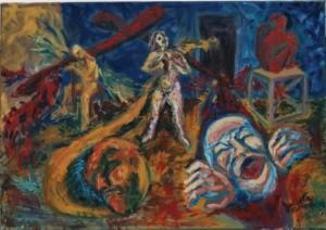 Soledades. Óleo sobre tela. Pintura de Julieta Strasberg