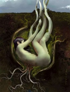 Mujer y naturaleza.