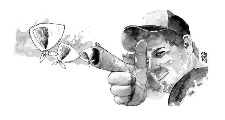 """Ilustración: Pito Campos """"Gatillo Fácil"""""""