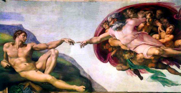 Miguel Ángel, La creación del hombre