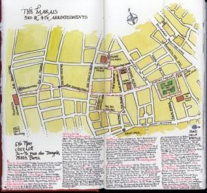 Jan Allsopp. Map with walking route