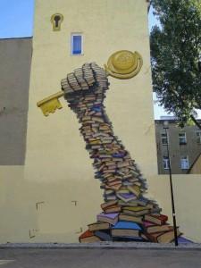 Mural. Biblioteca Regional de Gafsa na Tunisia.