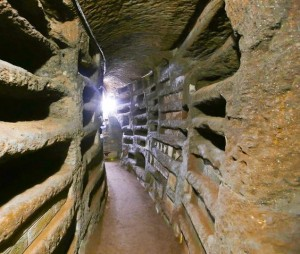Pasadizos de catacumbas de San Calixto