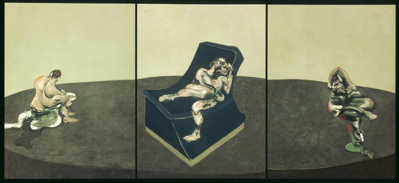 Francis Bacon - Three figures in a room