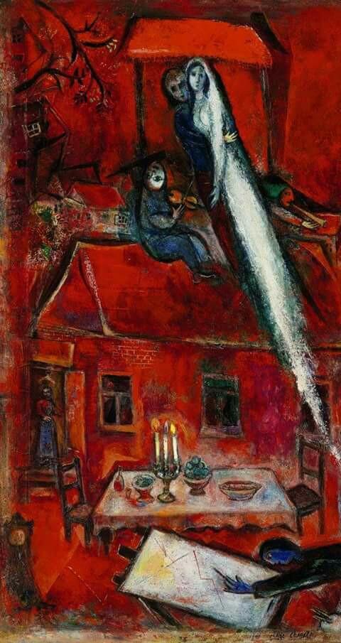 """Chagall, Marc. """"La casa roja"""", 1948."""