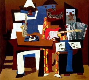 Pablo Picasso - Músicos con Máscaras