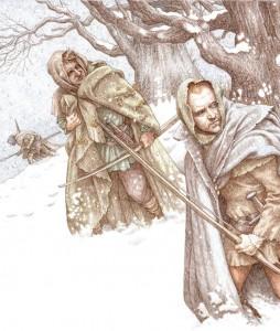 Ilustraciones de Robin Hood por Anne Yvonne Gilbert