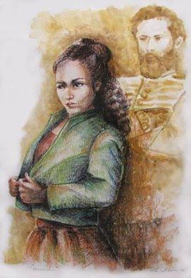 Retrato de Macacha y Martín Güemes