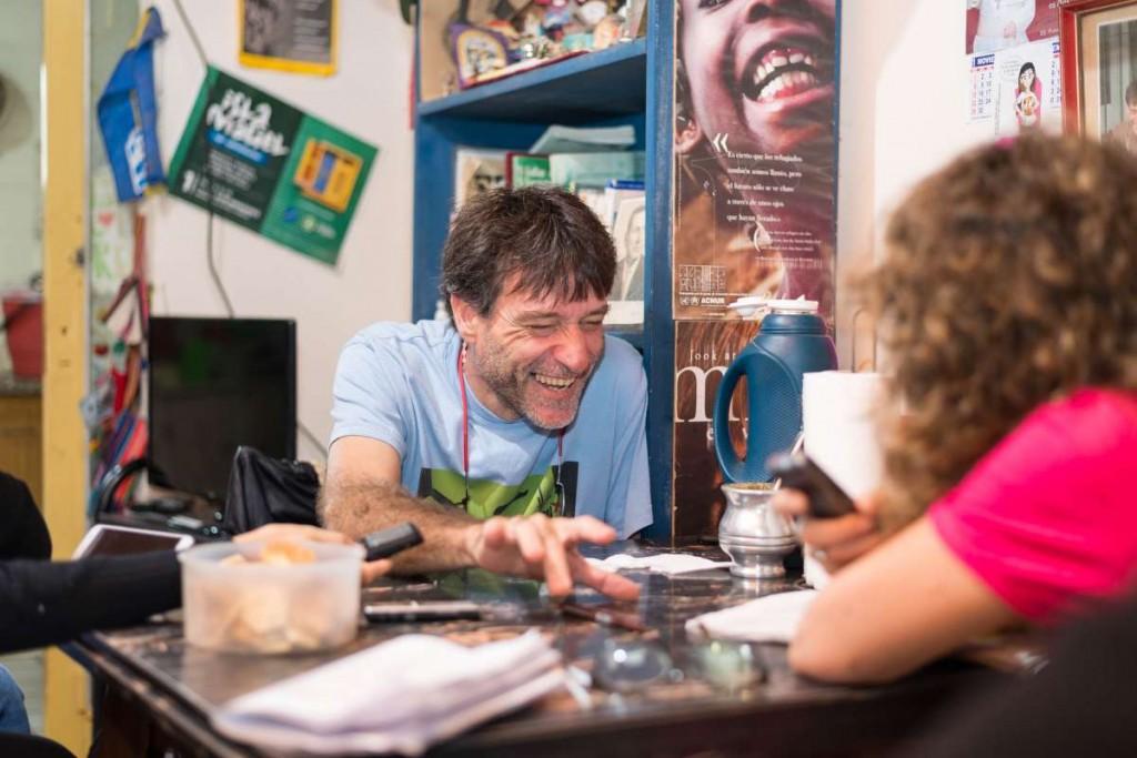 Paco Olveira y el Anartista. Fotografía: Diego Grispo.