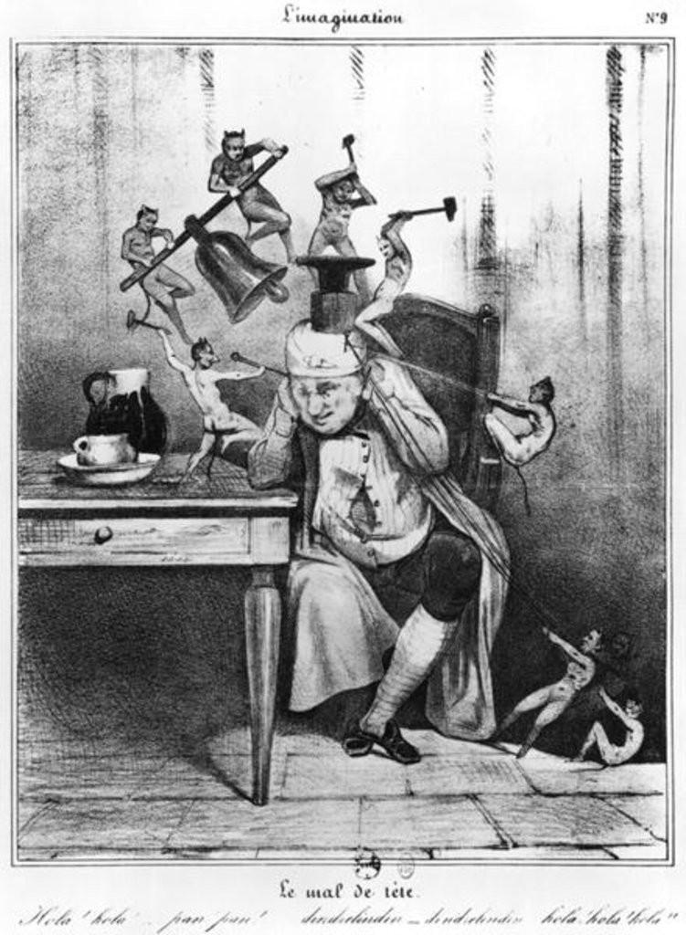 """Daumier. """"Le mal de téte""""."""
