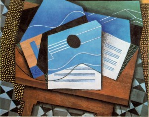 Guitar on a Table - Juan Gris