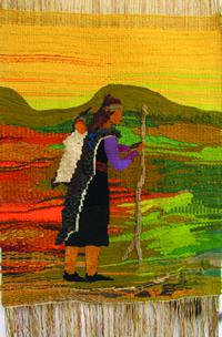 Lorena Lemungürü, textil mapuche