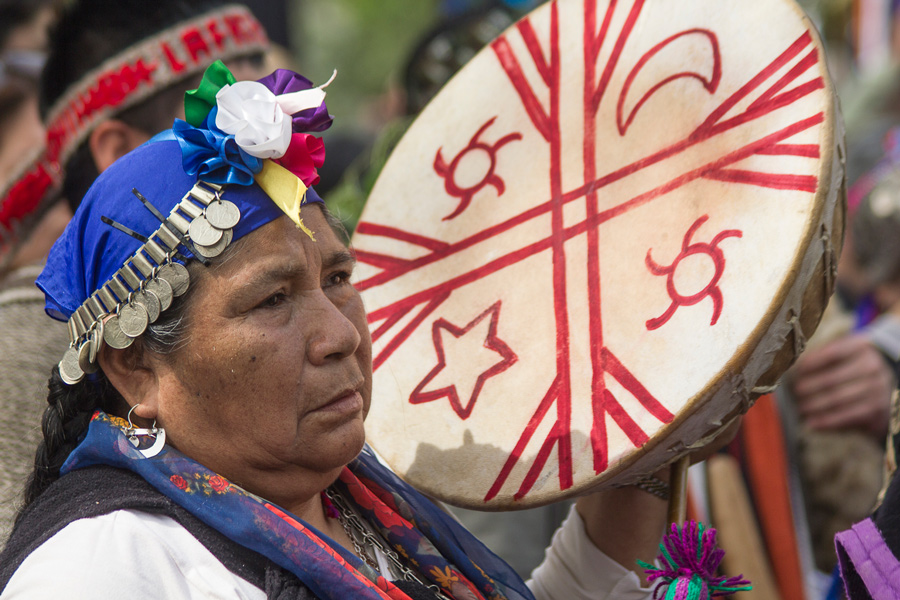 Marcha Mapuche, 12 octubre de 2014 ( fotografía: Ariel Nuñez)