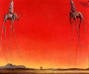 Los Elefantes - Salvador Dalí