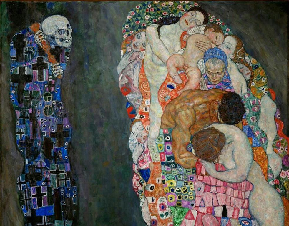 """Gustav Klimt. """"Vida y muerte""""."""