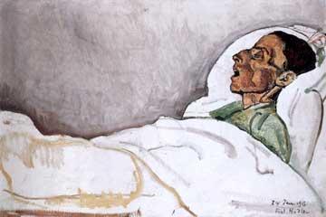 Ferdinand Hodler, The Dying Valentine Gode-Darel  January 24, 1915.