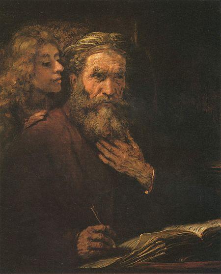 Rembrant, San Mateo y el ángel, 1661