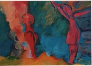 La fuente de vida. Pintura acrílica sobre tela. Artista: Julieta Strasberg