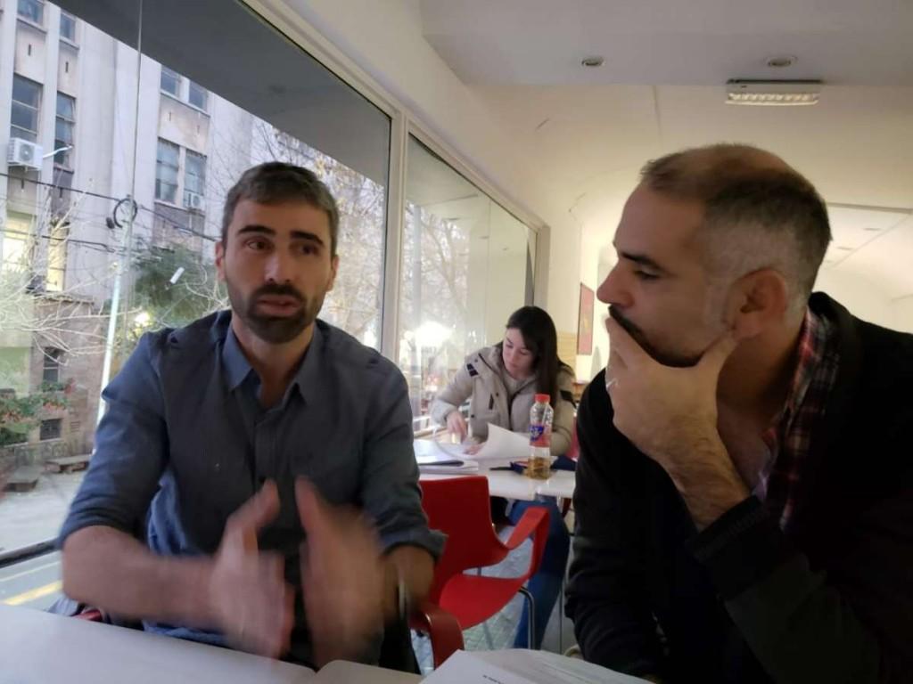 Juan Manuel Herbella con el Anartista.