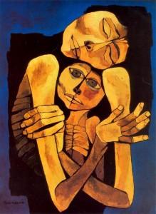 Madre e hijo - Oswaldo Guayasamin