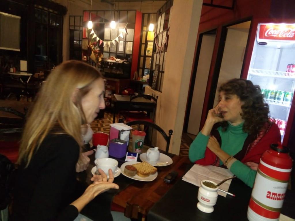 Ana Frenkel con el Anartista.