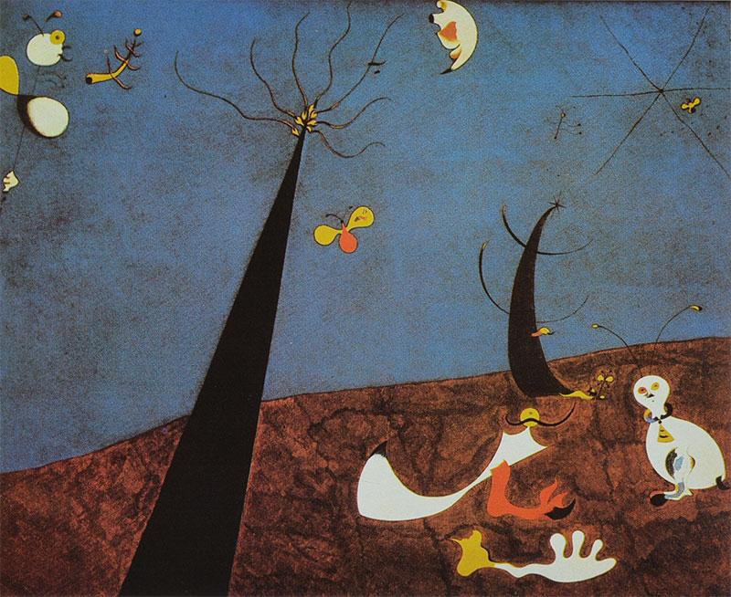 """Joan Miró. """"Diálogo de insectos""""-"""