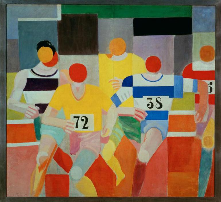 """Robert Delauney.  """"Los corredores."""""""
