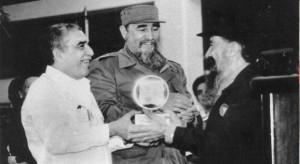Birri y Fidel Castro