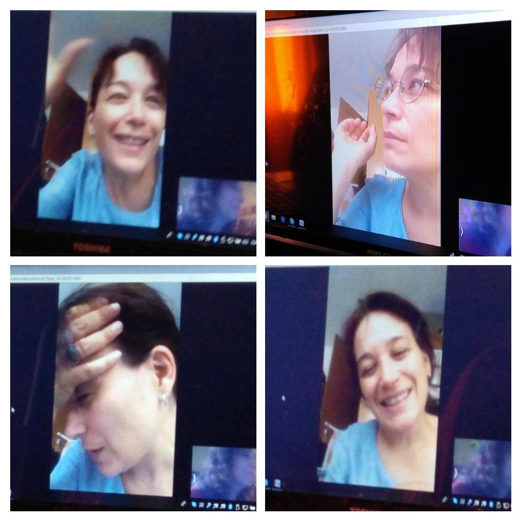 Laura Alcoba en la entrevista con el Anasrtista.