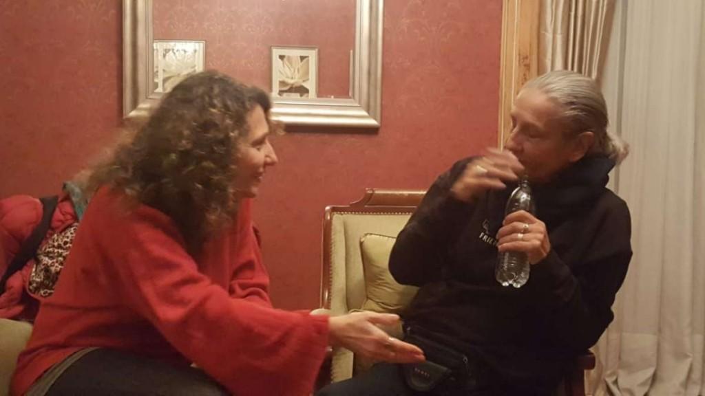 Liliana Felipe con el Anartista.