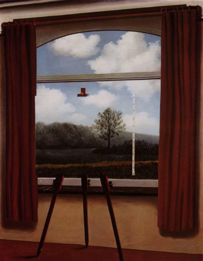 "Magritte . ""La condicion humana."" 1933"