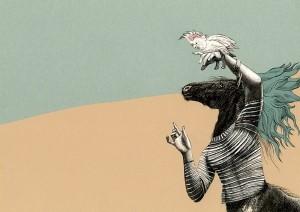 """Max Ernst. """"El hombre pájaro""""."""