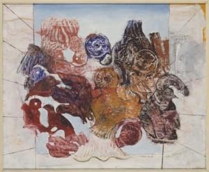 """Max Ernst. """"Pájaros rojos""""."""