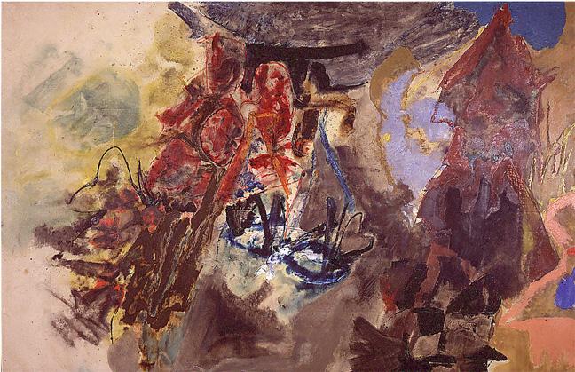 """Friedel Dzubas. """"El nacimiento de los pájaros"""". 1953."""