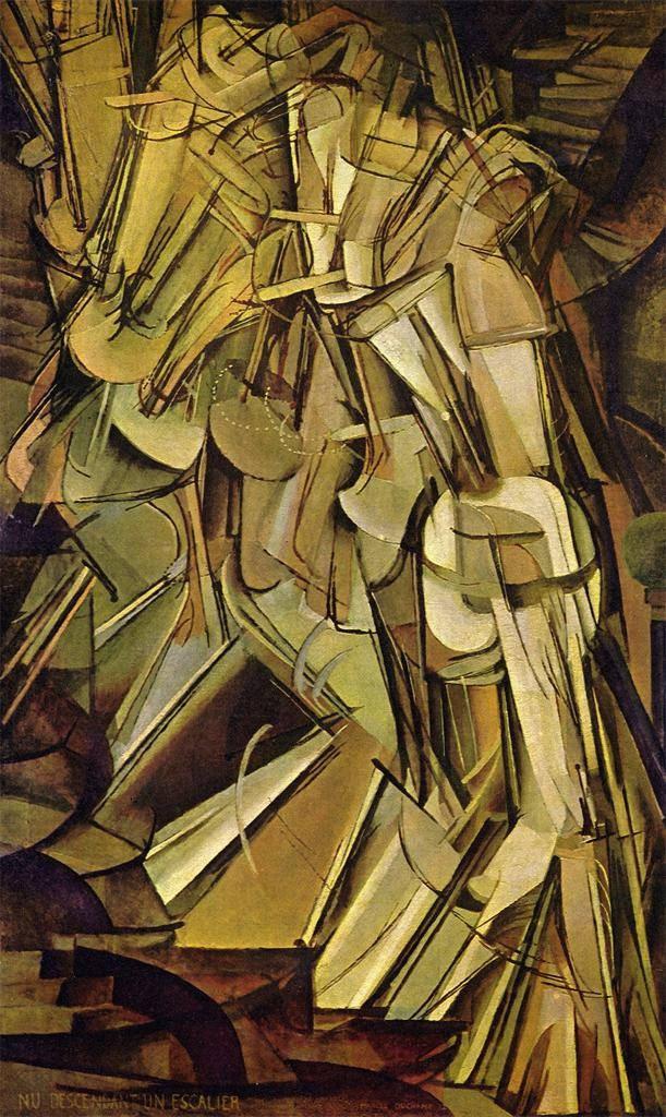 """Marcel Duchamp. """"Desnudo bajando una escalera""""."""
