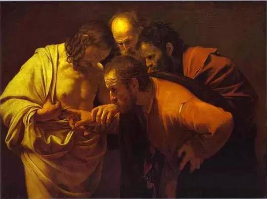 """Caravaggio. """"Tomás el dudoso."""" 1602-1603."""