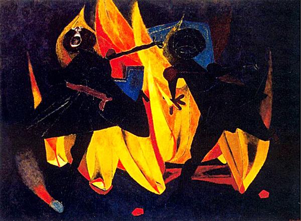 """Rufino Tamayo. """"Niños jugando con fuego."""""""