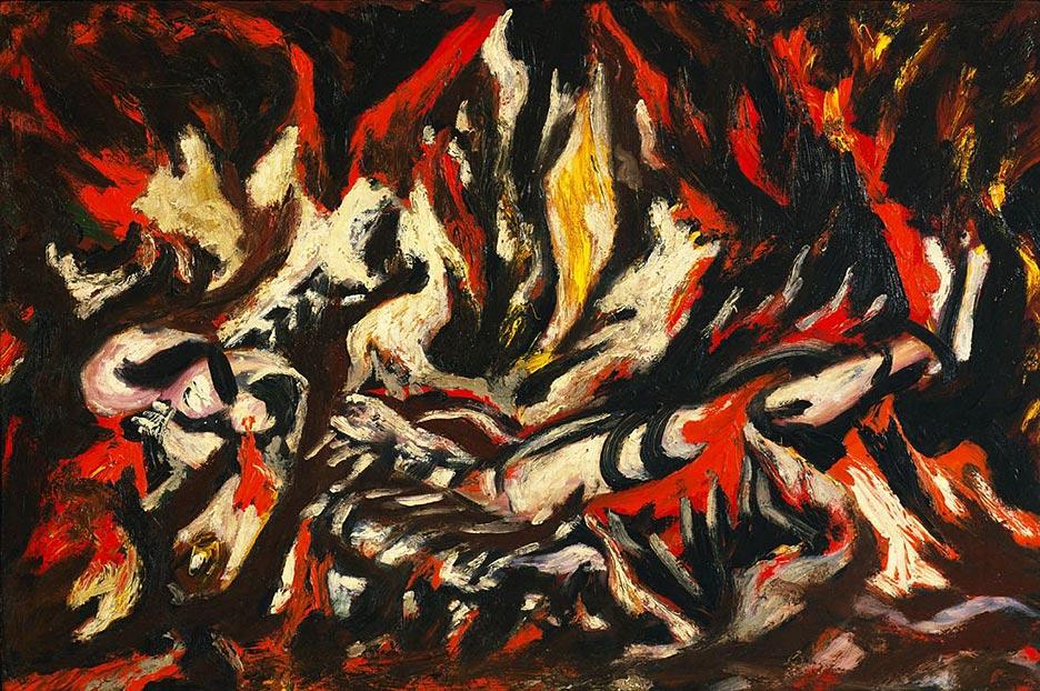 "Jackson Pollock. ""The flame""."