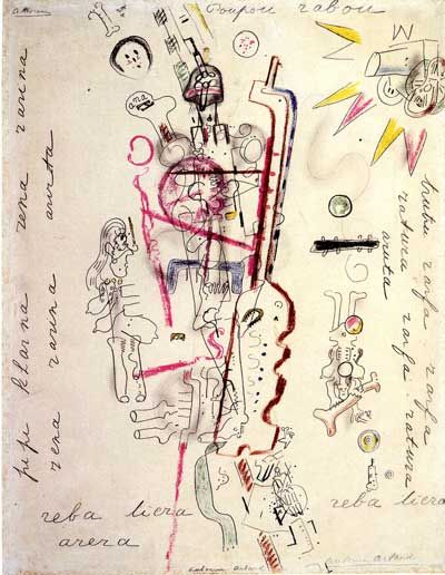 Antonin Artaud. Dibujo.