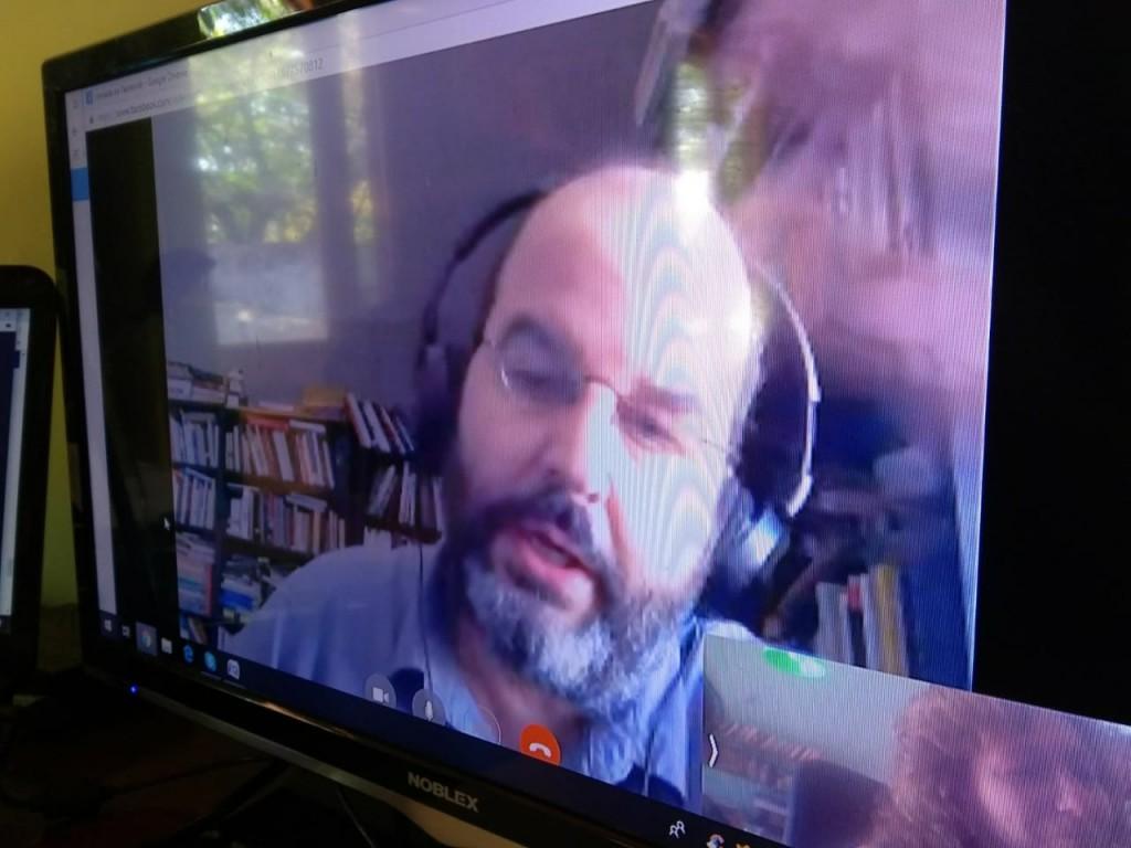 Eduardo Lalo en la entrevista con el Anartista.