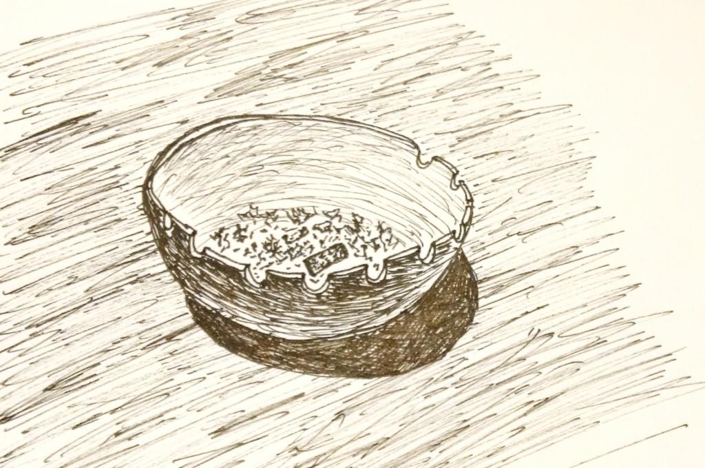 """Ilustración: Martín Pinus. Relato perteneciente al libro """"Adioses, colillas y estocadas"""". Editorial Alción. 2016."""
