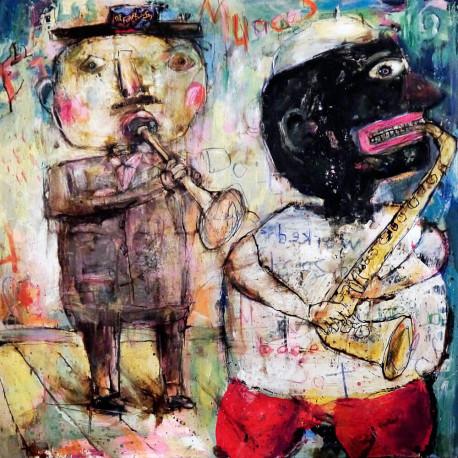 """Miguel de Sousa. """"Los músicos""""."""