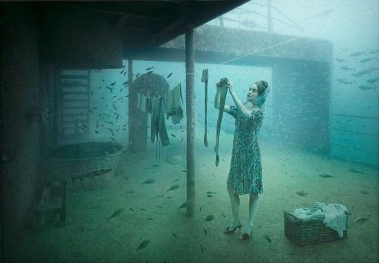 Andreas Franke. Obra expuesta bajo el mar.