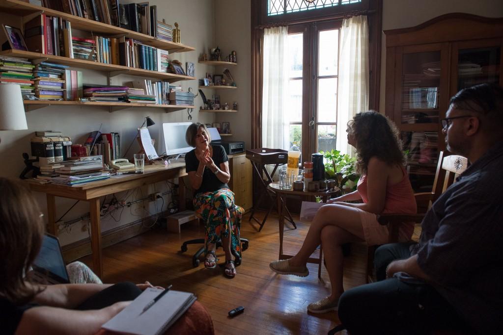 Liliana Heker con el Anartista. Fotografía: Diego Grispo.