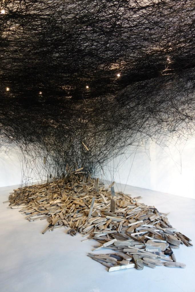 "Chiharu Shiota. ""Form of Memory,"" 2018."