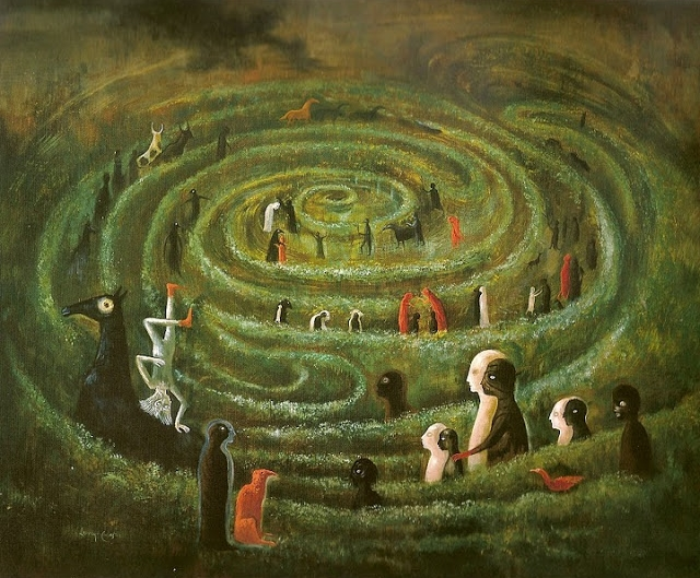 "Leonora Carrington. ""Labyrinth""."